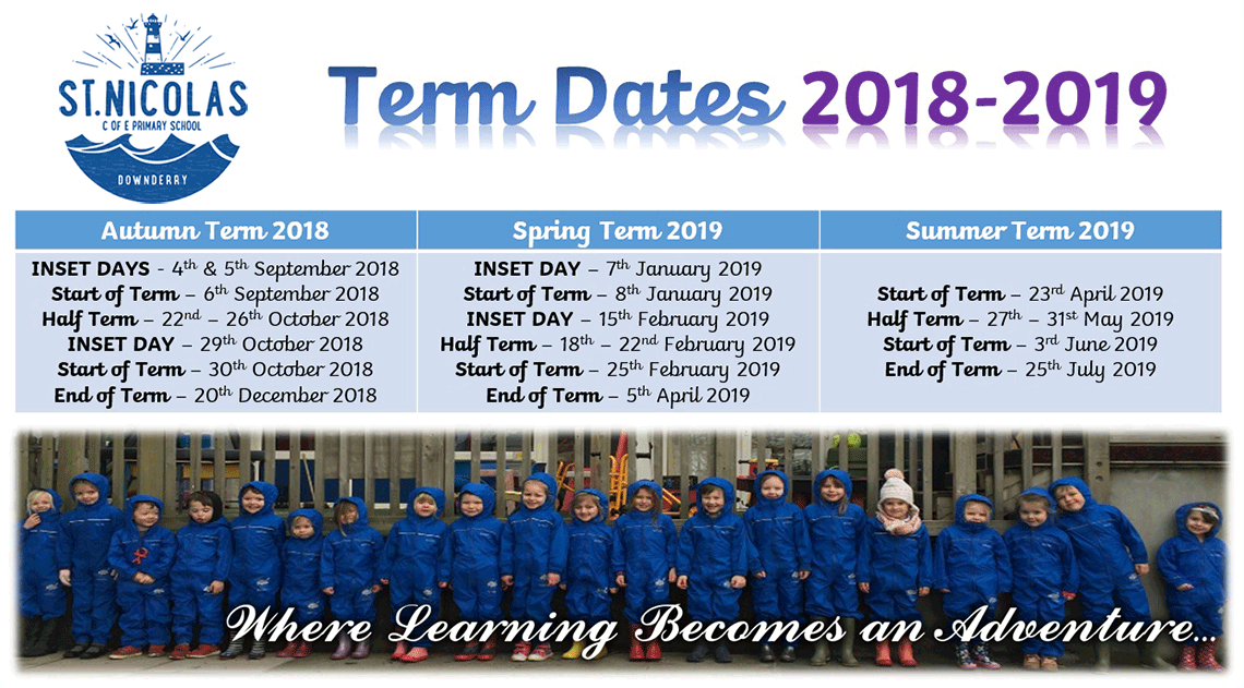 Term Dates 2018-2019 Image