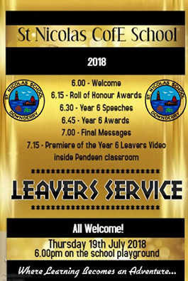 Leavers Service poster for past event